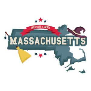 Map Of Massachusetts Graphic