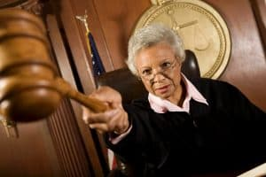 Female Judge Nebraska Supreme Court Holding Gavel