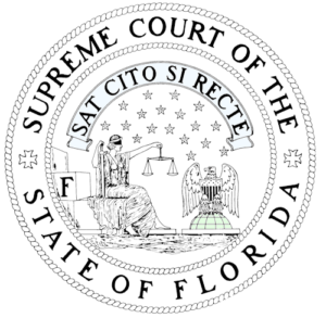 Vector Badge of Florida Court Orders Advance