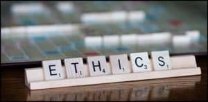 Picture Of Scrabble Ethics in Workers Compensation Letter