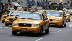 Yellow Cab Independent Contractor On The Road