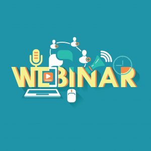 Design Of Webinar Tomorrow Vector Graphics