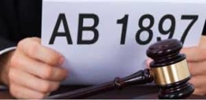 Picture Of Buzz Around California's AB 1897 with Gavel in front