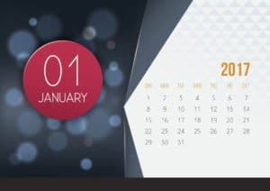Picture Of January 1st Renewals Calendar