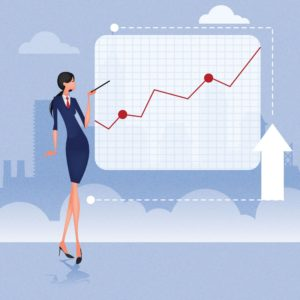 Businesswoman Actuarial Report Presentation