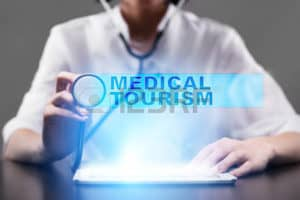 Picture of Doctor with Stethoscope Work Comp Medical Tourism Concept