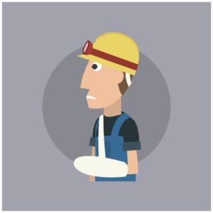 Injured Worker Post-accident safety Vector Image