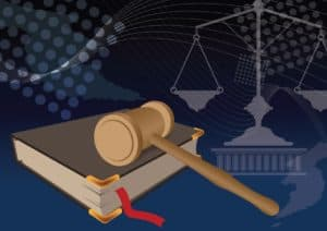 Vector Graphic of South Carolina Opt Out Gavel on Book