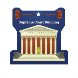 Badge Of US Supreme Court ACA Blue Backgroud