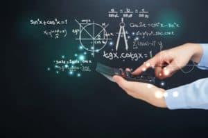 Hand Holding Calculator California WCIRB Rating Formula Icon