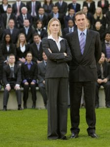 Picture of Man and Woman Standing In Front of Business People Risk Safety Pro Portrait