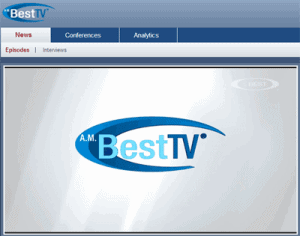 graphic of A.M. Best TV Homepage screen