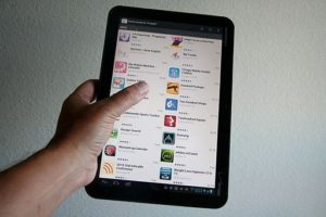 Tablet Favorite Android App Picture