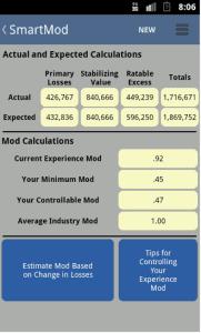 Screen of EMC Mod Android App SmartMod