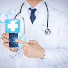 Picture of Work Comp Doctor holding smartphone