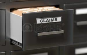 Picture of California Claims Adjustment Costs Files and Documents in Cabinet in Office