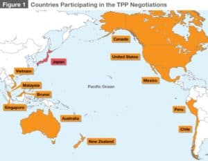Trans-Pacific Partnership Agreement Map