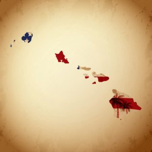 Picture of Hawaii Monopolistic State Fund Map