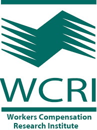 graphic of California Medical Review WCRI logo
