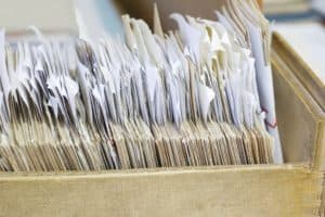 Document Workers Compensation Records Retention In Drawer