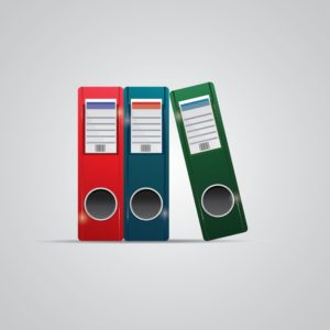 Vector Illustration Of Files Workers Compensation Records Retention Different Color