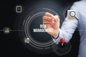 Hand Emphasizing Work Comp Fee Schedules Risk Management Icon