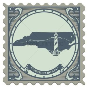 Stamp Of North Carolina Work Comp Subrogation Badge