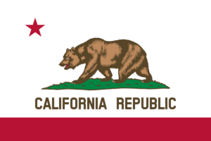 Vector of flag California AB 1643 emblem from website