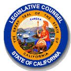 Legislative counsel State of California badge California AB 1643 Emblem From web