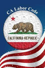 blue white red and bear CA Labor Code California AB 1643 Symbol