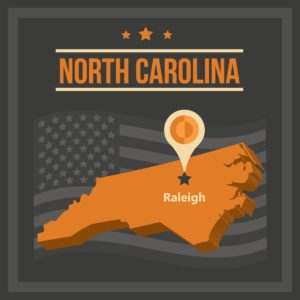 Graphic Map North Carolina Functional Capacity Evaluation Releigh
