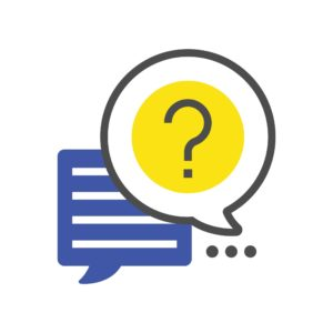 Vector of Question and Answer WCIRB Mod Talk Icon