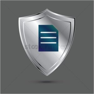 Vector graphic of endorsements silver shield badge