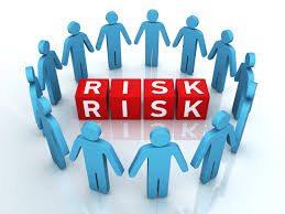 emoticons of risk management techniques concept