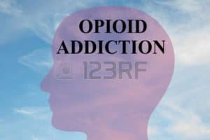 Clipart of side view face opioid statistics