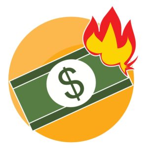 Burning Money WCRI 2017 Conference Afternoon Sessions Vector Icon