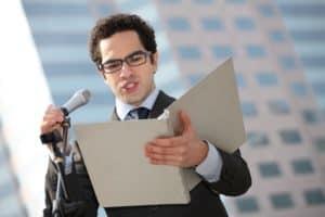 Man Speaker Workers Comp Mental Health Reading Speech