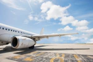 Aircraft US Workers Comp System On Airport