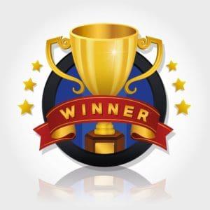 Winner Trophy Top 25 Workers Comp Blog Vector