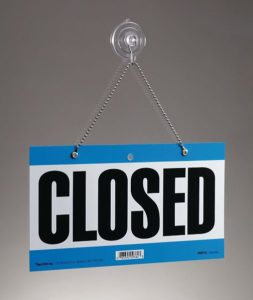 picture workers comp safety closed sign