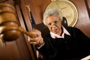 Female Judge North Carolina Supreme Court Holding Hammer