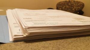 Paperwork bundles Work Comp Schedule Rating Factor File Folder