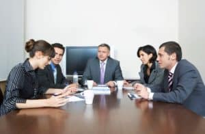 Business People WCIRB Board of Directors In Conference Room