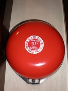 Alarm Bell Insurance Industry Employment In Red Color