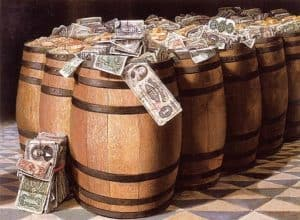 money barrels workers comp loss prevention money