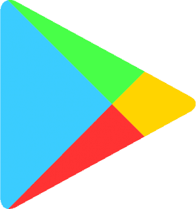 Graphics of google play store apple itunes store apps logo