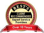 bests risk management consultants accomplishments 10 year badge