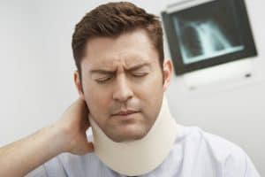 Man With Predictive Analytics Neck Injured