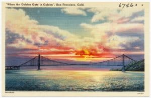 Postcard Graphic California Supreme Court Golden Gate Bridge
