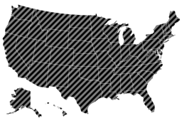map of striped national adjusters license usa